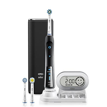 Electric Toothbrush, Oral-B Pro 7000 SmartSeries Black Electronic Power Rechargeable Toothbrush with Bluetooth Connectivity Powered by Braun