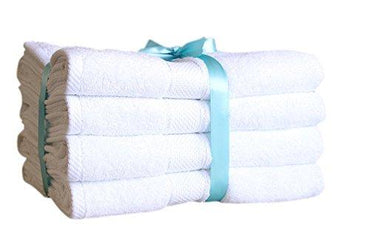 "Premium Bamboo Cotton Bath Towels - Natural, Ultra Absorbent and Eco-Friendly 30"" X 52"" (White)"