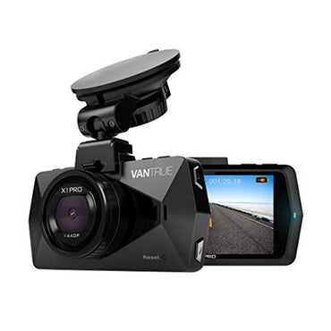 "Vantrue X1 Pro QHD 2.5K Security Dash Cam 2560x1440P/30fps 1920x1080P/60fps 2.7"" LCD 170° Car Camera w/24 Hours Parking Mode, Super Night Vision, Support up to 256GB, Optional GPS, Motion Sensor"