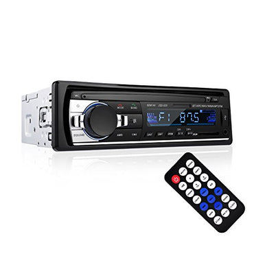 Bluetooth Car Audio Stereo Receiver - LESHP Bluetooth Car Stereo Audio Single DIN In Dash 12V FM Receiver MP3 Radio Player with Remote Control,60Wx4