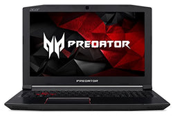 "Acer Predator Helios 300 Gaming Laptop, Intel Core i7 CPU, GeForce GTX 1060 6GB, VR Ready, 15.6"" Full HD, 16GB DDR4, 256GB SSD, Red Backlit KB, Metal Chassis, G3-571-77QK"