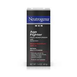 Neutrogena Men Age Fighter Face Moisturizer With Sunscreen Broad Spectrum Spf 15, 40g