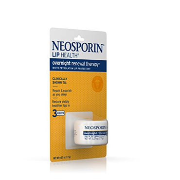 Neosporin Lip Health Overnight Healthy Lips Renewal Therapy Petrolatum  Lip Protectant, 0.27oz. (Pack of 2)