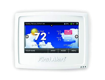 First Alert Onelink Wi-Fi Touchscreen Smart Thermostat, Works with Alexa