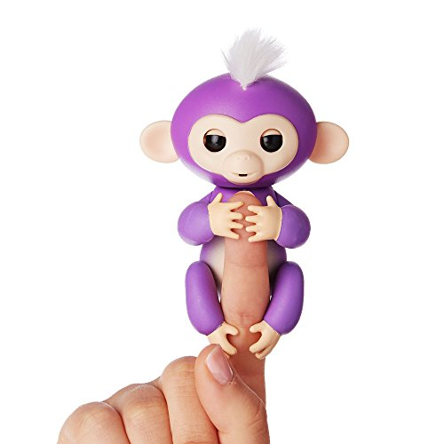 Fingerlings - Interactive Baby Monkey - Mia (Purple with White Hair) By WowWee