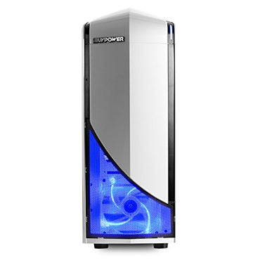 iBUYPOWER Gaming Desktop PC AM8140A AMD FX 6300 6-Core 3.5 GHz, AMD Radeon RX 550 2GB, 8GB DDR3 RAM, 1TB 7200RPM HDD, Win 10, Gaming Keyboard & Mouse, White