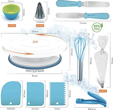 Cake Decorating Supplies Kit 136 Pcs