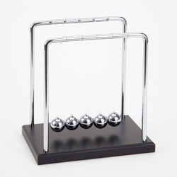 "Bits and Pieces - Newton's Cradle - Iconic Isaac Newton Kinetic Toy - Office Desktop Gift - 5-1/2"" wide x 5-1/2"" deep x 5-3/4"" tall"