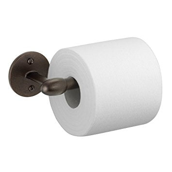 InterDesign Orbinni Toilet Paper Holder for Bathroom - Wall Mount, Bronze