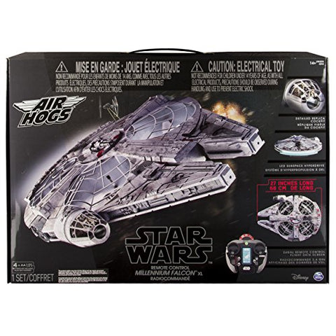Air Hogs - Star Wars Remote Control Millennium Falcon XL Flying Drone 2.4GHz 4-Channel with Gyro