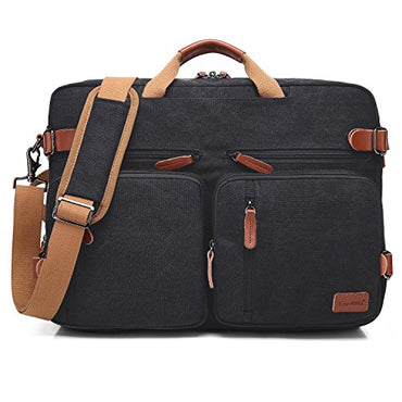 CoolBELL Convertible Backpack Messenger Bag Shoulder bag Laptop Case Handbag Business Briefcase Multi-functional Travel Rucksack Fits 17.3 Inch Laptop For Men / Women