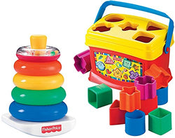 Fisher-Price Rock-a-Stack and Baby's 1st Blocks Bundle