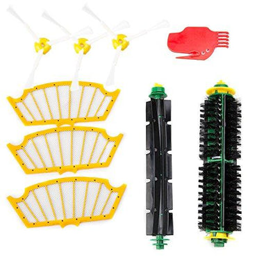 Roomba 500 Series Accessories kit Flexible Beater Brushes Bristle Brush Side Brush Filters Cleaning Tool Replacement Parts Pack for iRobot Roomba 500 Series 510 530 535 540 550 560 570 580