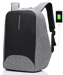 Anti-theft Business Laptop Backpack with USB Charging Port Fits to 15.6 Inch Computer Lightweight Water-resistant Knapsack
