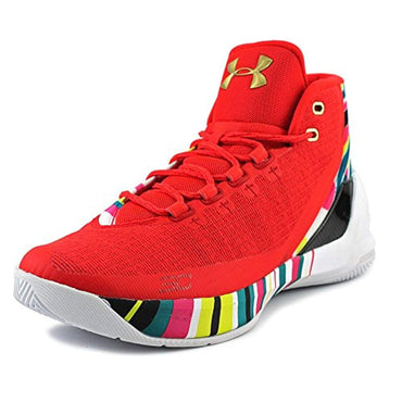 Under Armour Curry 3 Men US 13 Red Sneakers
