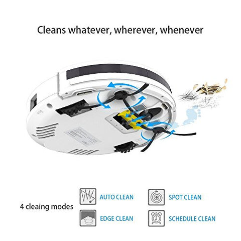 ILIFE V3s Pro Robotic Vacuum, Newer Version of V3s, Pet Hair Care, Powerful Suction Tangle-free, Slim Design, Auto Charge, Daily Planning, Good For Hard Floor and Low Pile Carpet Attachments: