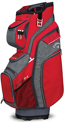 Callaway Golf 2018 Org 14 Cart Bag, Red/ Titanium/ White