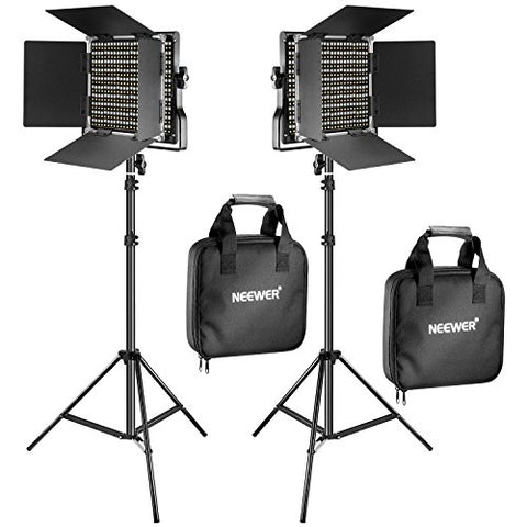 Neewer 2 Pieces Bi-color 660 LED Video Light and Stand