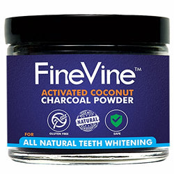 All Natural Teeth Whitening Powder - Made in USA with Coconut Activated Charcoal - Safe Effective Tooth Whitener Solution. Better than Strips, Kit, Gel & Whitening...