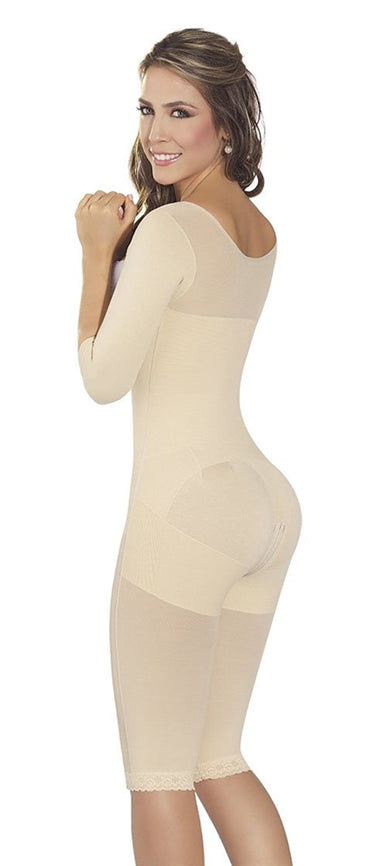Fajas MyD 0074 Womens Colombian Girdle Post Surgery Post Partum With Sleeves