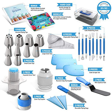 Frostinc Perfectly Assorted Cake Decorating Supplies 34 Pcs Kit