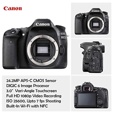 Canon EOS 80D DSLR Camera Deluxe Kit