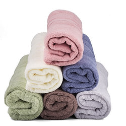 "Cozy Cotton Large 6-Value Pack 27 x 52"" 100% Cotton Extra-Absorbent Plush Bath Towels"