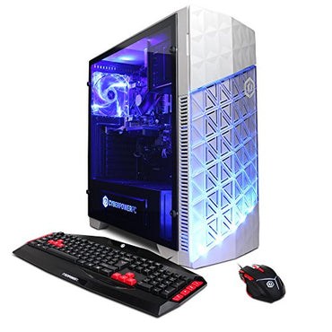 CYBERPOWERPC Gamer Ultra GUA882 Desktop Gaming PC (AMD FX-6300 3.5GHz, AMD R7 240 2GB, 8GB DDR3 RAM, 1TB 7200RPM HDD, Win 10 Home), White