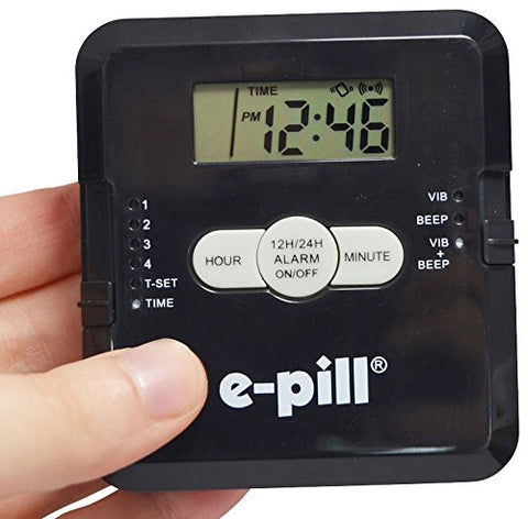 4 Alarm Pill Box Organizer with Vibration Reminder