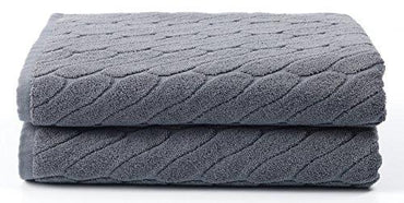 "Premium 100% Cotton Bath Towels 30"" X 54"" (Set of 2) - Natural, Durable, Ultra-Absorbent 600GSM (Grey)"