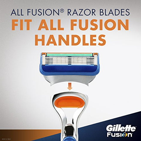 Gillette Fusion Manual Men's Razor Blade Refills, 4/12 Count