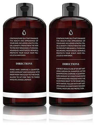 Art Naturals Organic Moroccan Argan Oil Shampoo and Conditioner Set (2 x 16 Fl Oz / 473ml)
