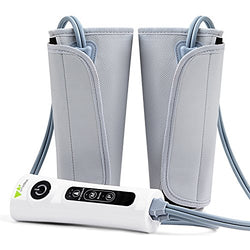 Amzdeal Leg Air Massager Healthcare Air Compression Leg Wrap Massage Therapy Built-in Rechargeable Battery Portable Use