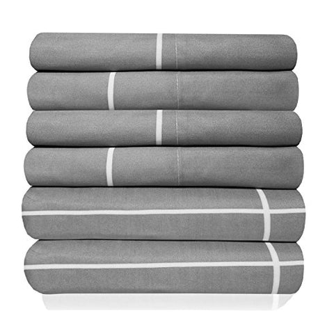 6 Piece 1500 Thread Count Egyptian Quality Deep Pocket Bed Sheet Set - 2 EXTRA PILLOW CASES, GREAT VALUE