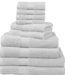 Divatex Home Fashions 12-Piece Complete Towel Sets, White