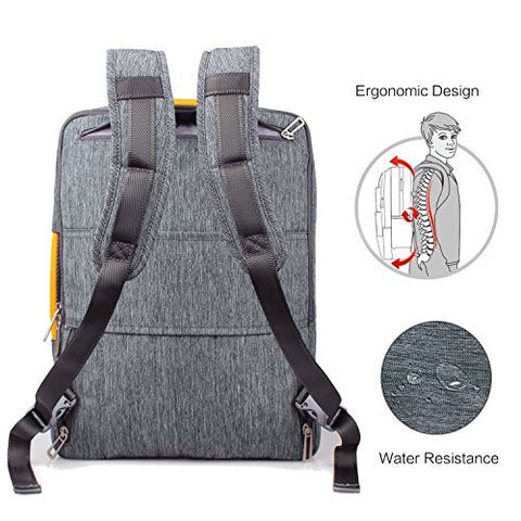 17.3 Inch Laptop Convertible Backpack - WIWU Multi Functional Travel Rucksack Water Resistant Knapsack Work School College Backpacks for men and women, Business Backpack fit 15.6 17.3 laptops