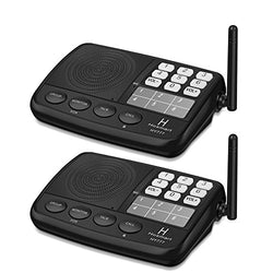 Hosmart 1/2 Mile LONG RANGE 7-Channel Security Wireless Intercom System for Home or Office. [2 Stations Black/Silver]