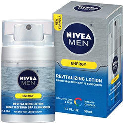 NIVEA Men Energy Lotion Broad Spectrum SPF 15 Sunscreen 50g