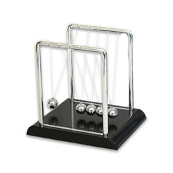 Newton's Cradle Kit - Physics Balance Balls - 7 inch by 5 inch Science Display - Executive Office Newton's Pendulum with 5 Metal Balls