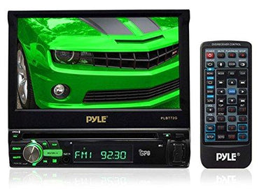 Pyle PLBT72G 7-Inch Single DIN In-Dash Motorized Touchscreen LCD Monitor with DVD/CD/USB/SD, AM/FM/Bluetooth, Built-In GPS with Maps (Discontinued by Manufacturer)
