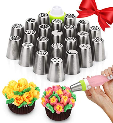 Russian Piping Tips - Cake Decorating Supplies - 39 Baking Supplies Set
