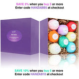 8 USA Made Vegan Bath Bombs Kit - Gift Set Ideas - Gifts For Women, Mom, Girls, Teens, Her - Ultra Lush Spa Fizzies