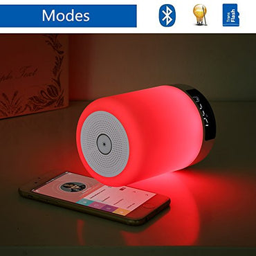 Keynice LED Bluetooth Speaker, Bedside Lamp,Touch Sensor Table Lamp, Dimmable Warm White Light&Color