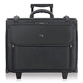 Solo Morgan 17.3 Inch Rolling Laptop Catalog Case with Hanging File System, Black