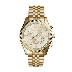 Michael Kors Lexington Gold-Tone Stainless Steel Watch MK8281 (Certified Refurbished)