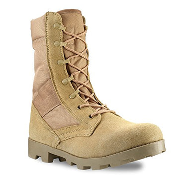 Men's 9 Inch Desert Tan Boots with Side Zipper for Work, Construction, Hiking, Hunting, Outdoors. Durable, Comfortable,True to Size. 6 Month Warranty