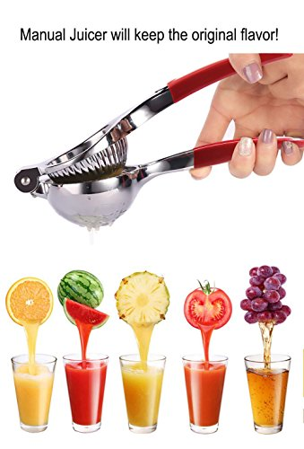 Lemon Squeezer, Manual Stainless Citrus Press Lemon Juicer with Handle Lemon Zester By E-wor