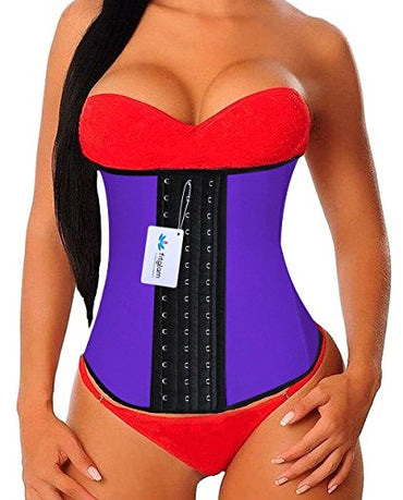 Fitglam Waist Trainer for Women Latex Waist Training Corset Body Shaper Girdle