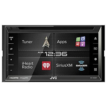 "JVC KW-V620BT 6.8"" Display Double DIN Bluetooth In-Dash Car Stereo with SiriusXM, HDMI, iDataLink"