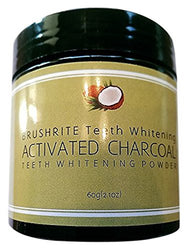 Brushrite Food Grade 100% Pure All Natural Coconut Shell Activated Charcoal for Teeth Whitening, Original